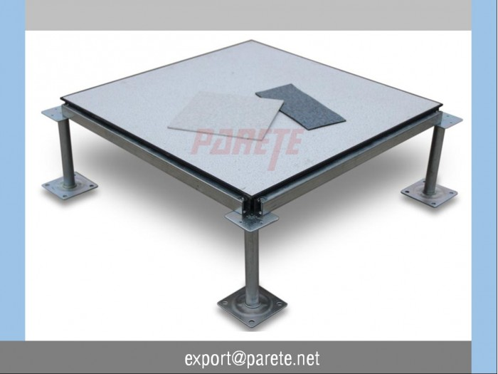 Steel access floor with anti static HPL covering