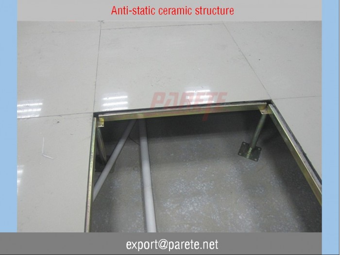 AF-5-Steel access floor with anti static Ceramic tile