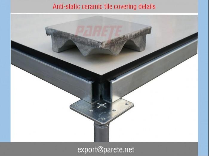 19 Steel access floor with anti static Ceramic tile