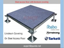 AF-4-Steel access floor system with Linoleum Covering