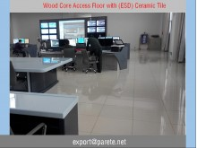 AF-13-Wood core access floor with ceramic tile