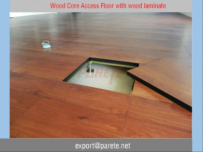 AF-16-Wood core access floor system with Prodema wood laminate