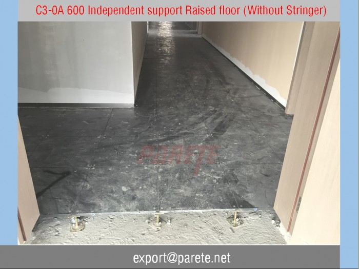 C3-0A 600 Raised floor with independent support
