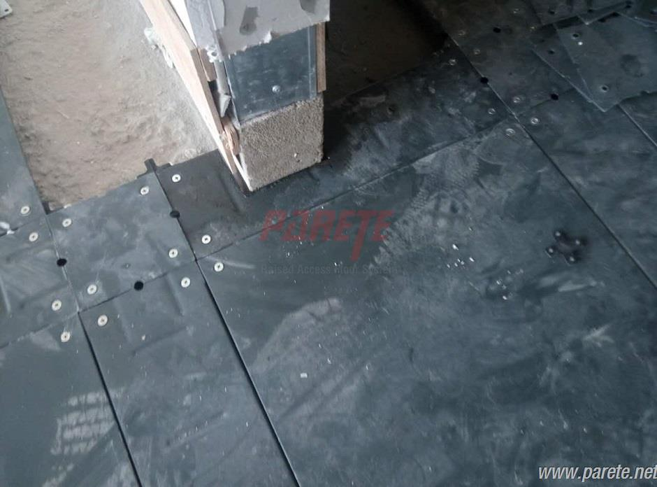 steel cementitious raised floor with trunk