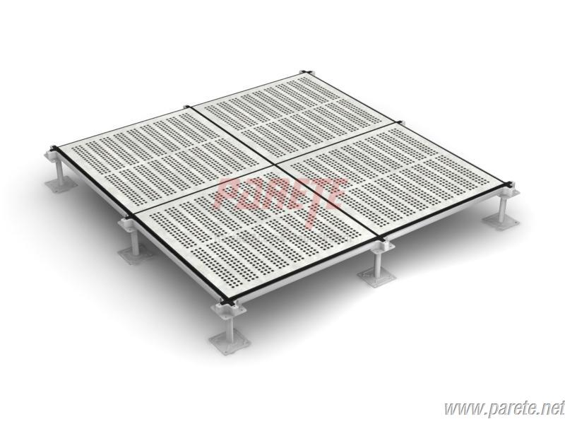 steel perforated raised access floor