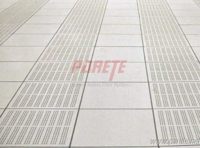 The right side of the steel perforated panel with 23% ratio